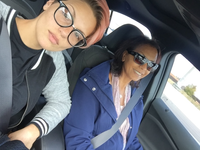 Getting a drive to the airport in Toronto from my mother. (Mothers are the best, obviously.)