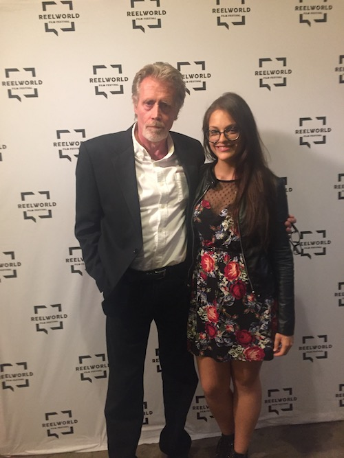 With lead actor from Her Story No. 2: Hush Little Baby, Bill MacDonald, at a press junket in Toronto for the Reel World Film Festival and YEAA Shorts.