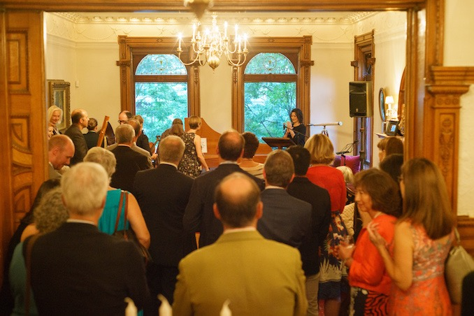 Elisa Citterio addressing guests at a private welcome event - Photo: Jeff Higgins