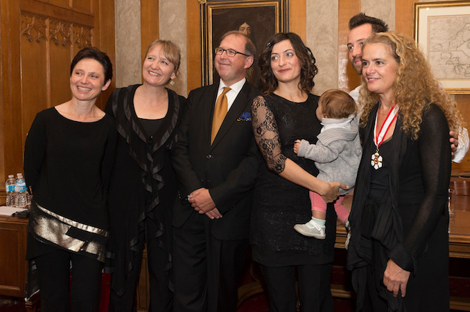 Elisa Citterio, her family, and members of Tafelmusik meet Governor General Julie Payette