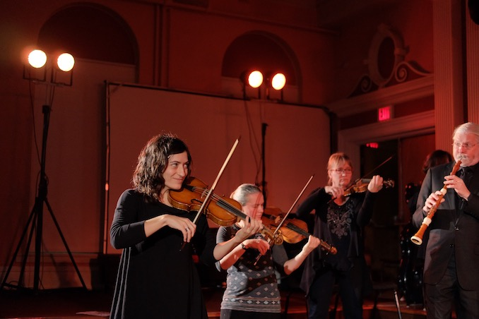 Elisa Citterio rehearsal with members of the orchestra during the Eastern Canada Tour