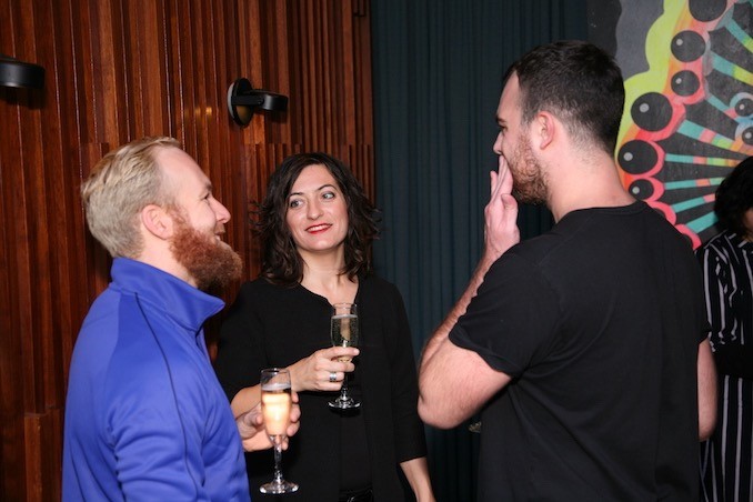Elisa Citterio with guests at a private dinner held at The Drake Hotel