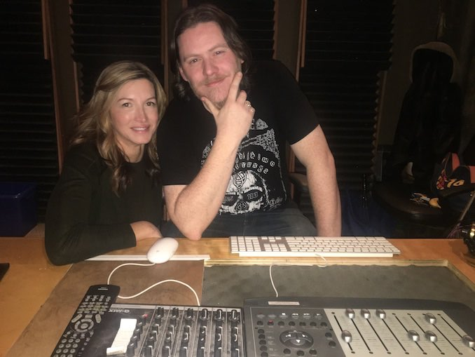 Ryan M. Andrews with producer Eva Mancini doing post production on Art of Obsession at Urban Post