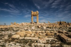 The Temple of Bel in Palmyra, Syria after its destruction by ISIS. August 2015. Photo by Brian Denton, New York Times.