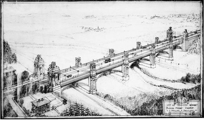 1914 - October 17the - Bloor Street Viaduct drawing.