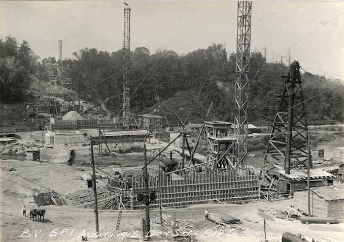 1915 - August 16 - Bloor Street Viaduct under construction, looking west