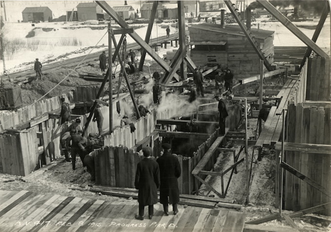1915 - February 8 - Bloor Street Viaduct under construction, Pier D