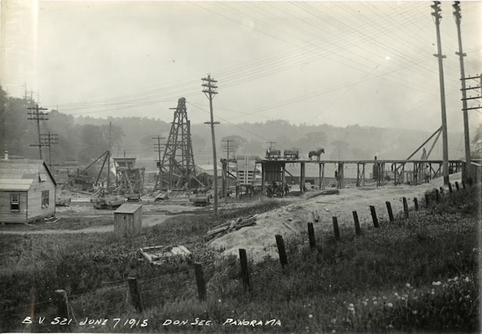 1915 - June 7 - Bloor Street Viaduct under construction, panorama