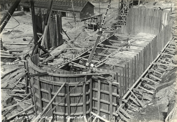 1915 - September 2 - Bloor Street Viaduct under construction, showing pier B