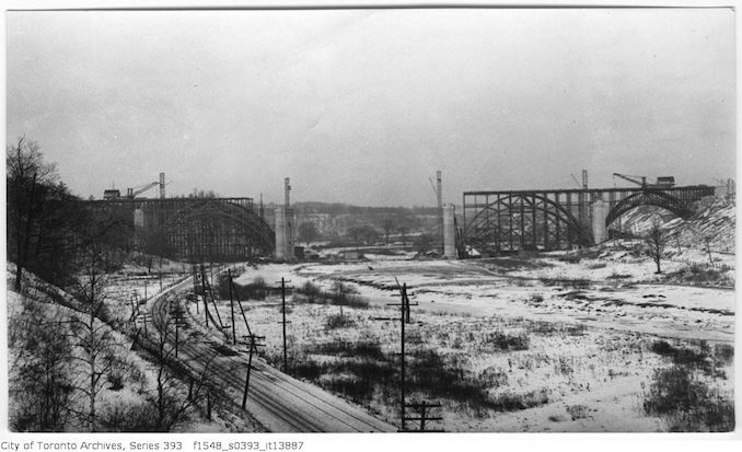 1916 - December 31 - Bloor Street Viaduct, complete view