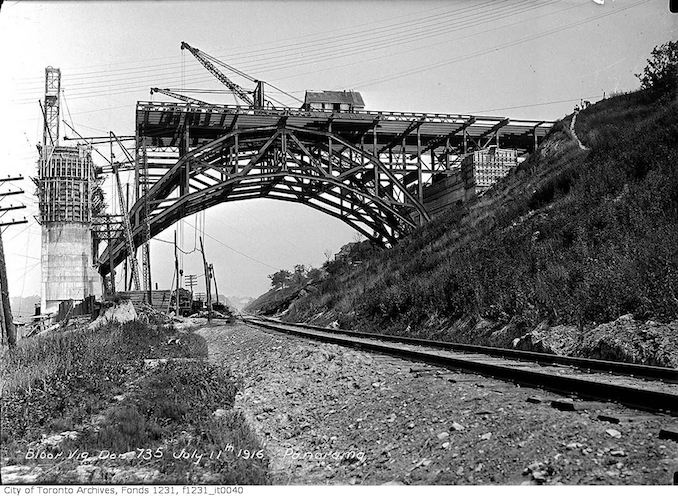 1916 - July 11 - Bloor Viaduct, Don Section