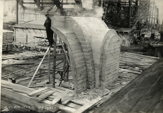 1917 - March 16 - Bloor Street Viaduct under construction, Deck forms