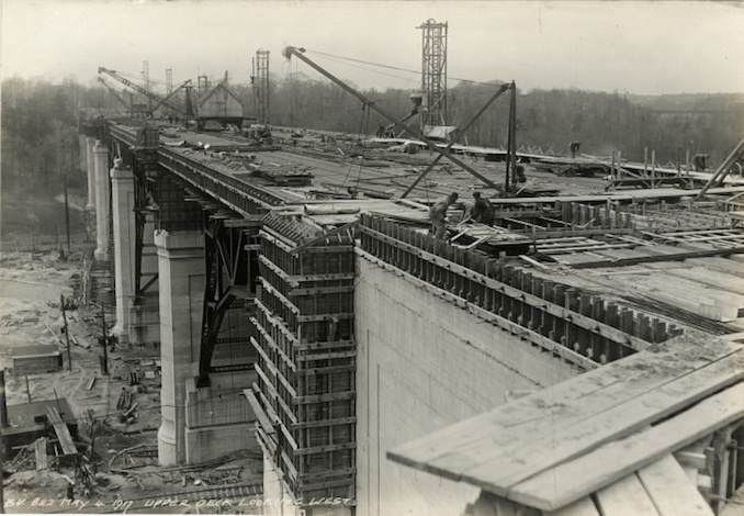 1917 - May 4 - Bloor Street Viaduct, upper deck looking west