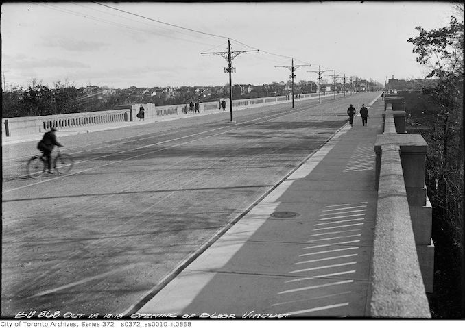 1918 - October 18 - Opening of Bloor Viaduct