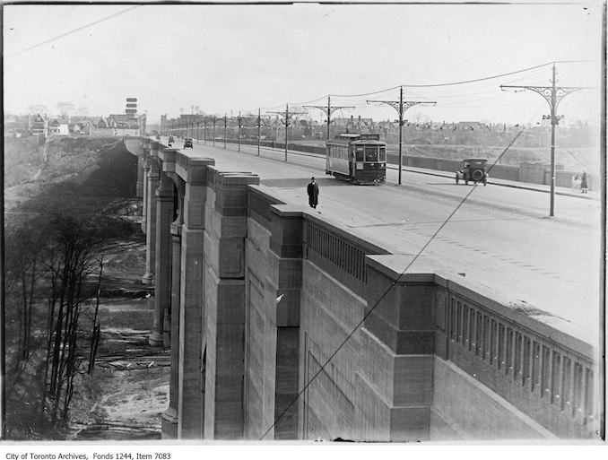 1920 - Bloor Viaduct, looking east to Broadview Avenue