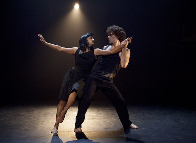 Me and dance partner Louis Laberge-Côté in Akshongay, a work we presented at the inaugural Bright Nights season at The Citadel. (2015)