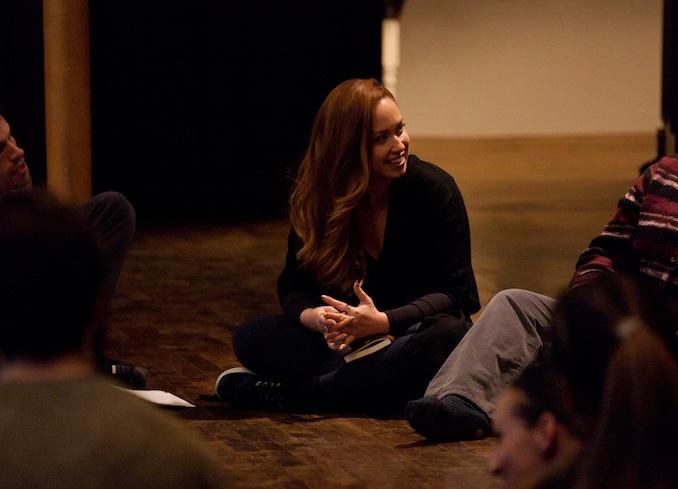 Julia in rehearsal