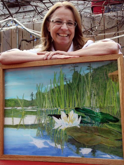 My piece for Jardin'Art-a summer outdoor art exhibit in downtown Kingston