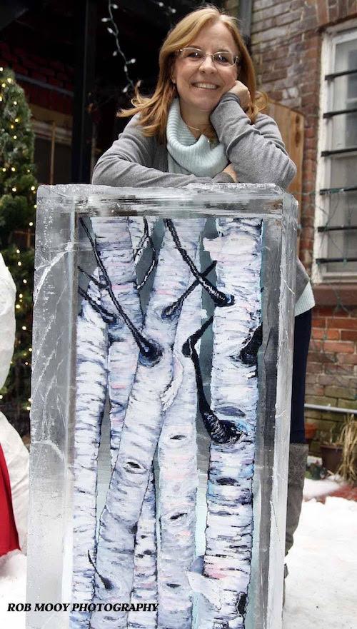 """My Froid'Art piece """"Winter Birches"""""""