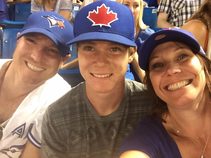 Blue Jays - at a Blue Jays game with my boyfriend Michael and his son Cameron. A special day as a good friends daughter sang the National Anthem!