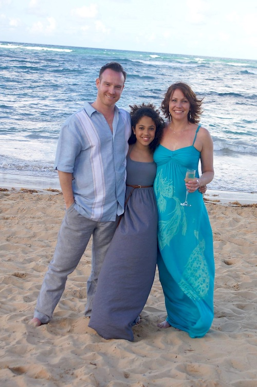 Dominican Republic - with my boyfriend Michael and daughter Sydney - at my sister Christine's wedding in DR