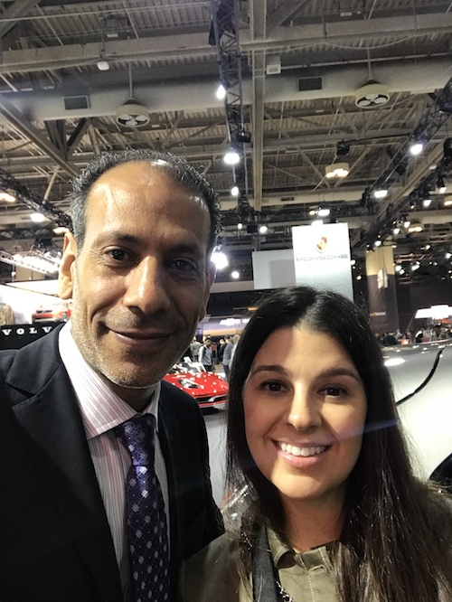 Raed and Jennifer at the Auto Show, 2018.