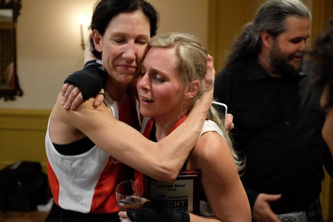 Jane Watson and Dawn Ramsay-Brown-- Co-Main Event, Fight To End Cancer 2014 - Photo was taken after they fought [Photo Courtesy of Spencer Wynn]