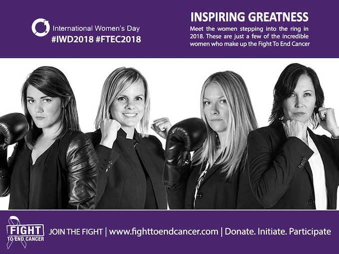(left to right) Heather MacDonald, Christina Vatsis, Dawn Millar and Alison Turnbull, along with their 6 teammates hope to raise over $250,000.00 this year alone. Learn how you can join them in their Fight To End Cancer. View FTEC2018 Fight Team.