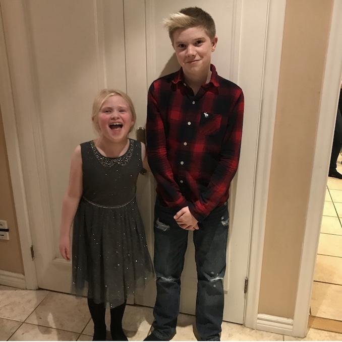 Abigail (age 6) and Jack (age 12), Christmas 2017