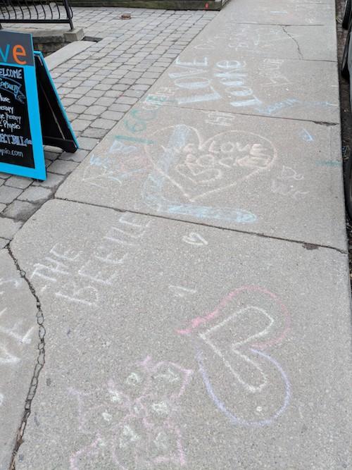 Sidewalks on #LoveLockeDay in Hamilton