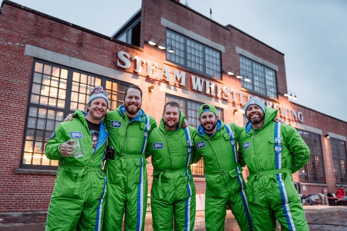 The Steam Whistle crew at The Winter Roundhouse Craft Beer Festival