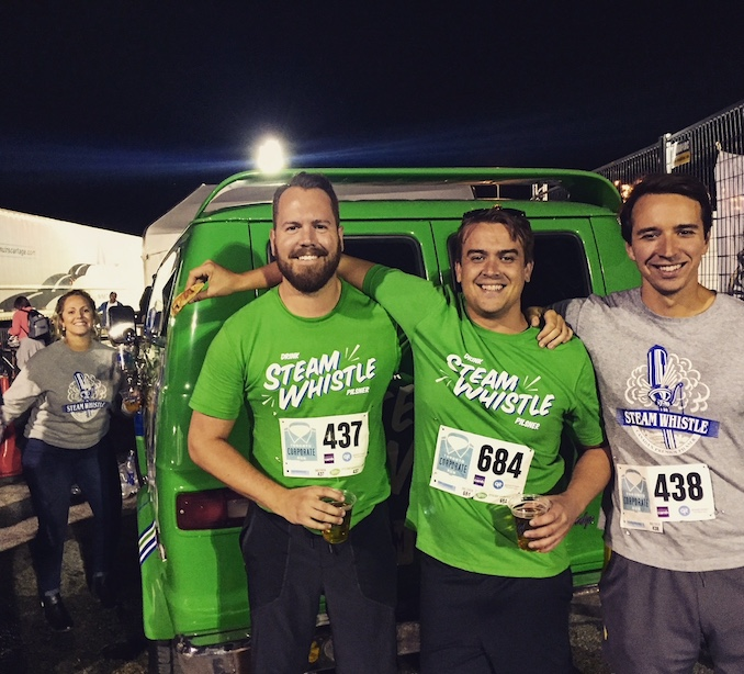 The 2017 Toronto Corporate run which conveniently had Steam Whistle available for all runners at the end of the race!