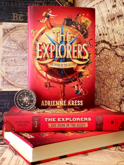 I love taking my own promo pics for my work. This is a fun setup of the first Explorers book with some maps I own as backdrop.
