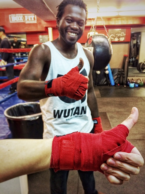Meeting up at Paul Brown Boxfit with my Muay Thai trainer Mike Ouedraogo (@muayfittoronto)! Time to punch and kick and knee all the things!
