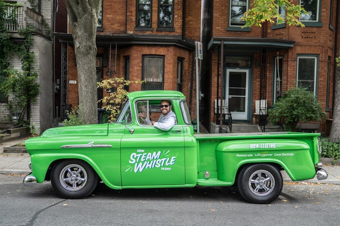 Steam Whistle's completely electric 1957 Chevrolet Apache