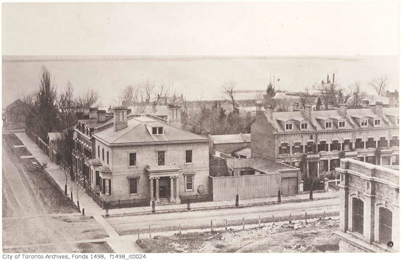 1856 - Toronto from the top of the Rossin House Hotel - looking south 2
