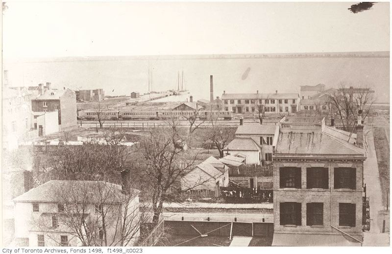 1856 - Toronto from the top of the Rossin House Hotel - looking south