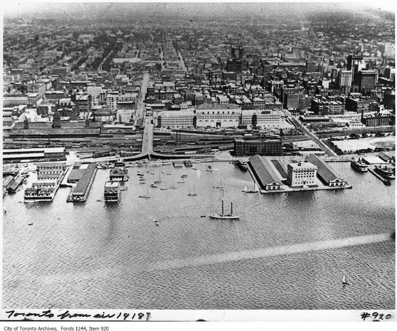 1918? - Aerial view of Toronto waterfront
