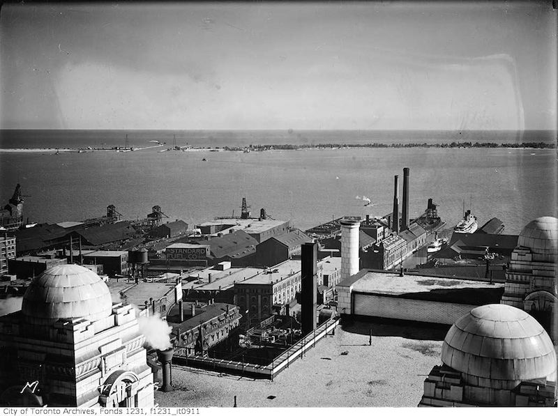 1926 - Panorama of Toronto waterfront looking east to Bay Street