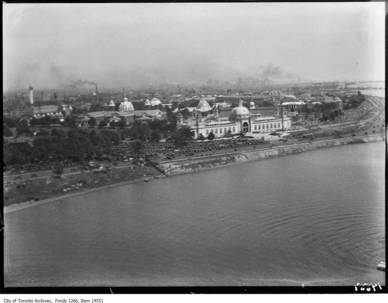 1928 - C.N.E., women's swim, air views, general waterfront, Ontario Bldg