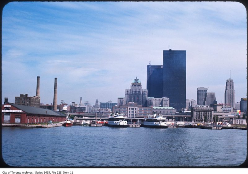 1969 - 1976 - Waterfront looking north to Royal York
