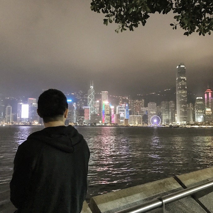 Naishi Wang - 4AM looking to the other side of Victoria Harbour in Hong Kong