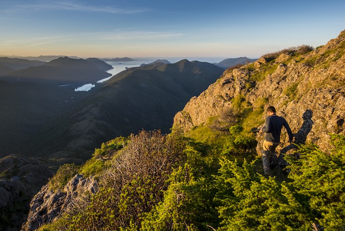 Atop Mount Yatza while on assignment in Gwaii Haanas, British Columbia