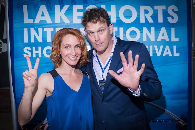 With my husband Chris at Lakeshorts 2017 - celebrating 7 years_photocred_JeremySale - Michelle Nolden