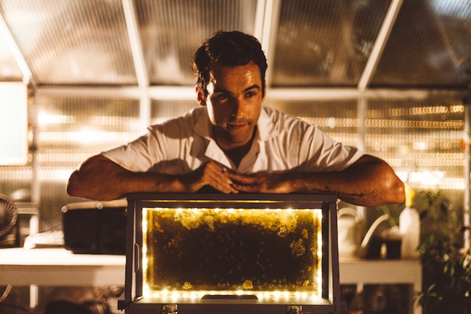 Vincent Leblanc - Talking about bees in Catacomb at last year's Summerworks Performance Festival (Photo: Lauren Kolyn)