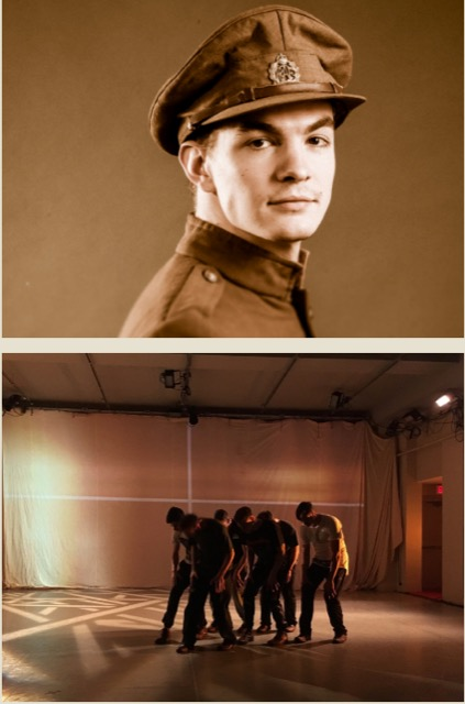 Performing in Citadel & Compagnie's Jusqu'à Vimy (photos Jeremy Mimnagh)