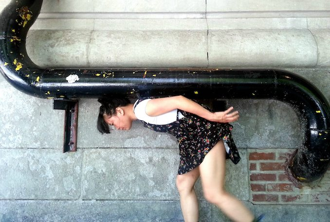 Find a wall with a tube dance with it - Sook-Yin Lee