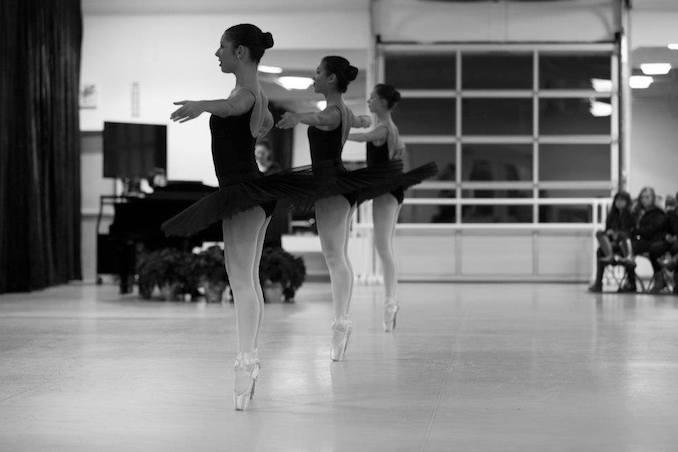 A nostalgic ballerina shot