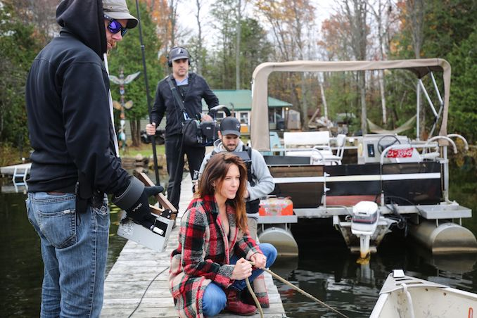 Filming on location for the short film Latched which had it's world premiere at TIFF.