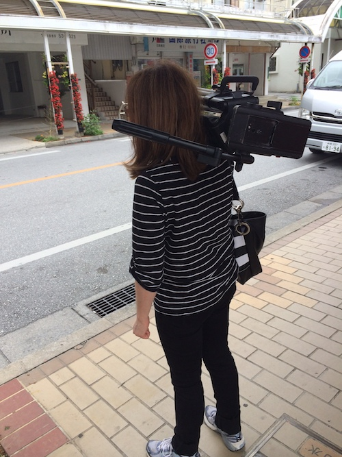 Carrying Tripod on a shoot